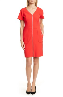 HUGO Kirase Zip Front A-Line Dress