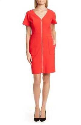 HUGO BOSS Kirase Zip Front A-Line Dress