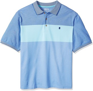 Izod Men's Fit Advantage Performance Short Sleeve Colorblock Polo