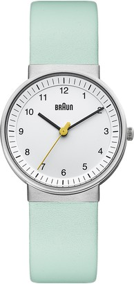 Braun Women's BN0031WHTQL Classic Turquoise Analog Display Japanese Quartz Green Watch