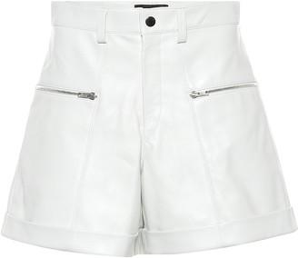 Isabel Marant Cedar high-rise leather shorts