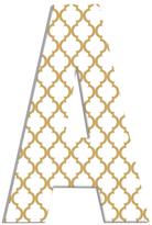 Gold and White Trellis (Wood)