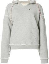L'Equip inverted seam hoodie