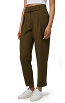 Topshop Grosgrain Belted Peg Trousers
