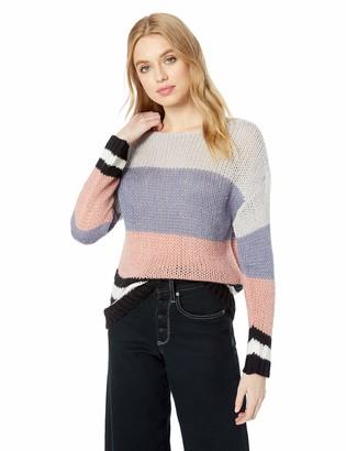 Lucky Brand Women's Bold Stripe Pullover Sweater
