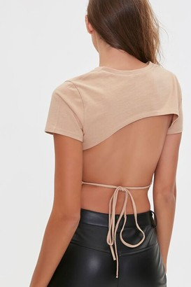 Forever 21 Tie-Back Cropped Tee