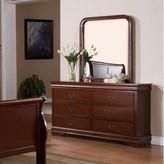 Laurèl Guffey 6 Drawer Double Dresser with Mirror Foundry Modern Farmhouse