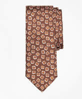 Brooks Brothers Panama Tossed Flower Print Tie