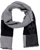 Thomas Wylde Embroidered Wool Scarf