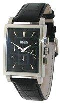 HUGO BOSS Mens Slim Ultra 1512849 Black Leather Strap Black Dial Chronograph Watch