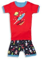 Hatley Little Boy's & Boy's Two-Piece Cotton Pullover Tee and Printed Shorts