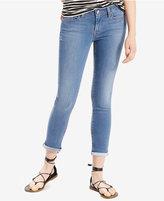 Levi's 535 Super Skinny Cuffed Jeans