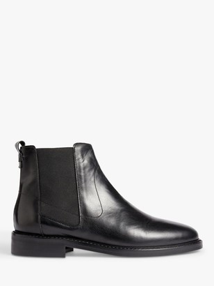 Jigsaw Ardell Leather Chelsea Boots, Black
