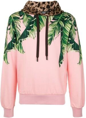 Dolce & Gabbana Palm Print Hoodie