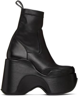 Marques Almeida Black Platform Boots