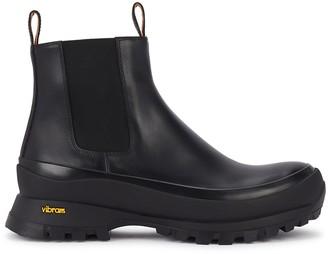 Jil Sander 50 Black Leather Ankle Boots