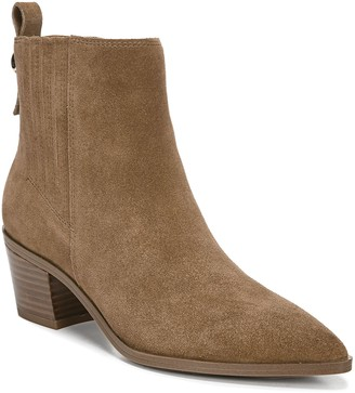 Franco Sarto Leather Block-Heel Western Booties- Shay