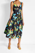 Marc Jacobs Tropical Print Midi Dress with Cotton