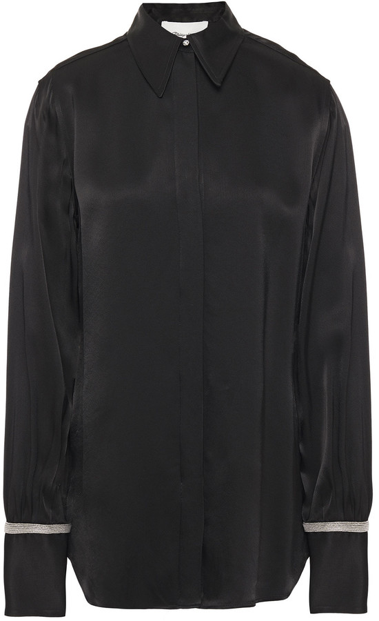 Thumbnail for your product : 3.1 Phillip Lim Bead-embellished Cady Shirt