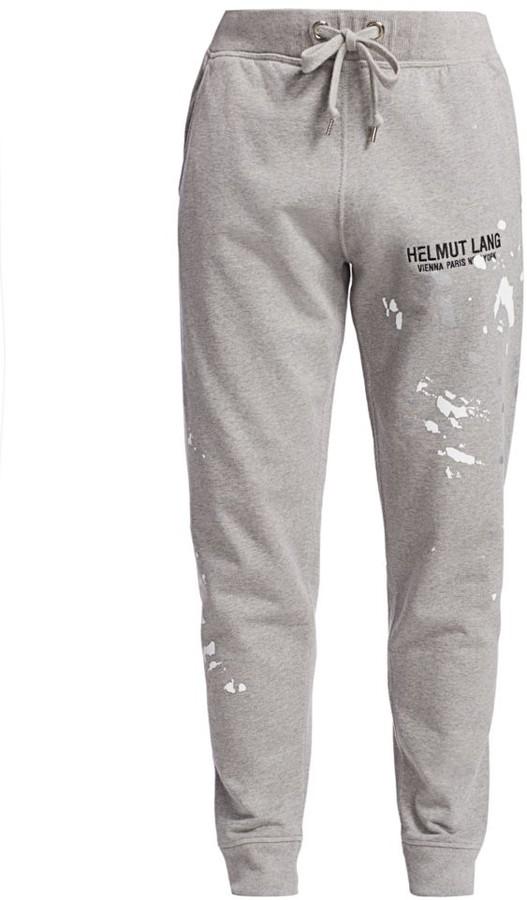 Helmut Lang Splatter Logo Sweatpants