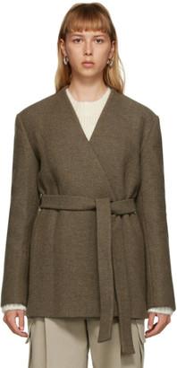 DRAE Brown Wool Belted Jacket