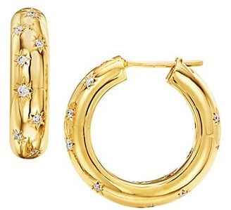 Temple St. Clair Celestial 18K Yellow Gold & Diamond Cosmos Large Hoop Earrings
