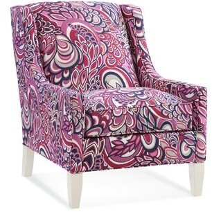 Braxton Culler Cameron Armchair Upholstery: Green Textured Plain; 0358-88, Finish: Kiwi - Wood
