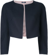 Jil Sander Navy cropped jacket - women - Cotton - 38