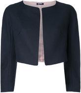 Jil Sander Navy cropped jacket - women - Cotton - 42