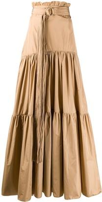 Maria Lucia Hohan Estella tiered maxi skirt