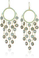 Miguel Ases Amazonite Multi-Drop Earrings