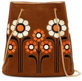 Orla Kiely Suede Embroidery Posy Bucket Bag