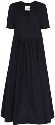 Jil Sander Marabel flared maxi dress