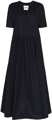 Jil Sander Marabel flared maxi dress