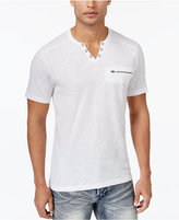 INC International Concepts Men's Dean Split-Neck T-Shirt, Only at Macy's