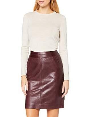 More & More Women's Lederrock von Skirt, (Wine Red 0548), 8