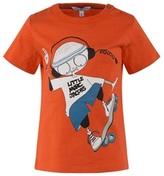 Little Marc Jacobs Orange Mr Marc Skateboard Tee