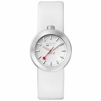 Mondaine Elegant Wrist Watch for Women (A666.30324.16SBA) Swiss Made White Leather Strap