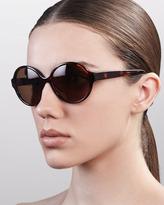 Barton Perreira Bouvier Oversized Rounded Sunglasses, Spanish Cedar