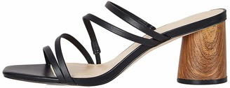 Find. Block Heel Assymetric Strippy Sandal Ankle Strap
