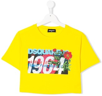 DSQUARED2 TEEN 1964 logo-print crop top