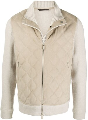 Ermenegildo Zegna Quilted-Effect High-Neck Jacket