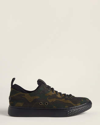 Polo Ralph Lauren Camo Dunovin Leather Low-Top Sneakers