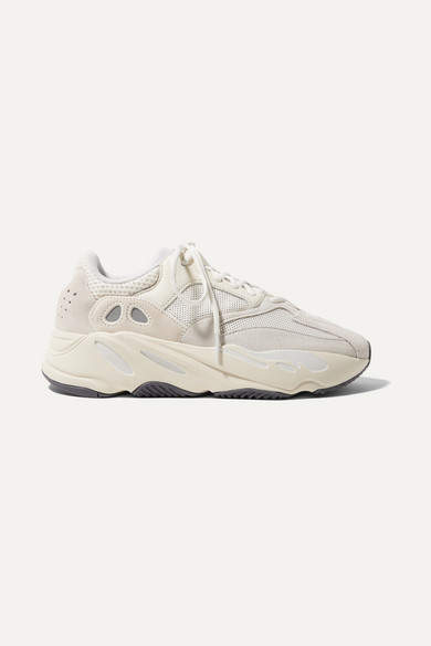 watch bcc9d 0bcf8 Yeezy Boost 700 Suede, Leather And Mesh Sneakers - Off-white