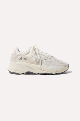 adidas Yeezy Boost 700 Suede, Leather And Mesh Sneakers - Off-white
