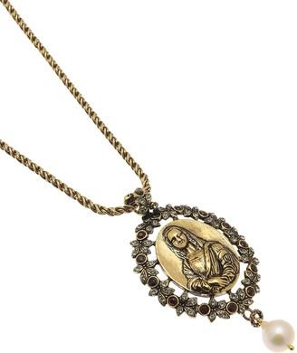 Alcozer & J Golden Brass Monnalisa Necklace