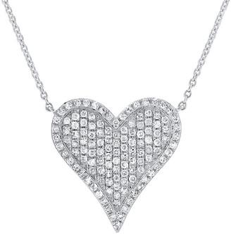 Sabrina Designs 14K 0.34 Ct. Tw. Diamond Heart Necklace