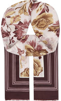 Burberry Floral cashmere scarf