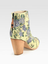 Rag and Bone Rag & Bone Classic Newbury Floral-Print Suede Ankle Boots