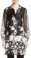 Co Women's Floral Embellished Tunic Top